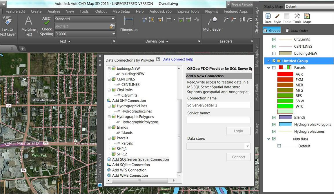 Autodesk autocad map 3d data exchange with 3d planningdesign tools sciox Images